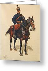 A Soldier Cavalerie Greeting Card