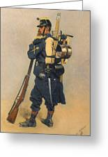 A Soldier IInfanterie Greeting Card