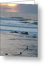 A Solitary Moment With Storm Waves At Mavericks Greeting Card