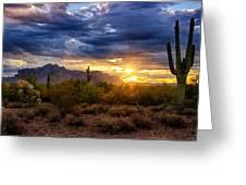 A Sonoran Desert Sunrise Greeting Card