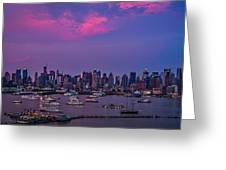 A Spectacular New York City Evening Greeting Card