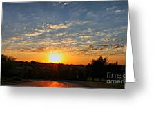 A Spectacular Sunset Greeting Card