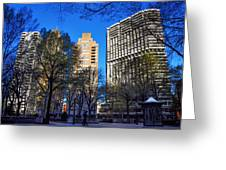 A Spring Day At Rittenhouse Square Greeting Card