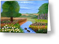 A Spring Stream Greeting Card