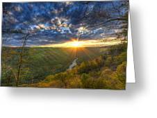 A Spring Sunset On Beauty Mountain In West Virginia. Greeting Card