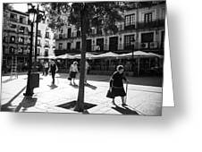 A Square In Toledo - Spain Greeting Card