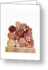 A Stack Of Sausages Greeting Card