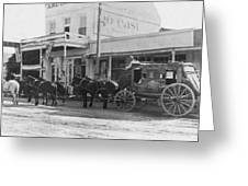 A Stagecoach In Tombstone Greeting Card