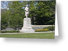 A Statue Of Colonel Thayer Greeting Card