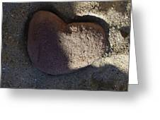 A Stone Heart Greeting Card