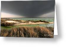 A Storm A Coming - Outer Banks I Greeting Card by Dan Carmichael