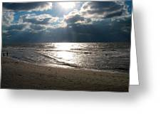 A Storm Is Brewing Over The Gulf Coast Greeting Card