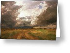 A Stormy Day Greeting Card