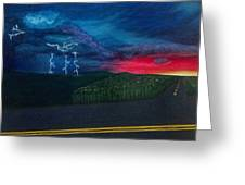 A Stormy Sunset Greeting Card