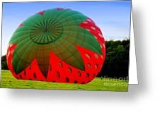 A Strawberry Balloon Greeting Card