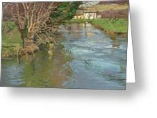 A Stream In Spring Greeting Card