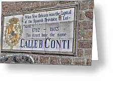 A Street Called Conti Greeting Card