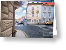 A Street In Prague Greeting Card