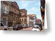A Street In The Old Quarter. Greeting Card