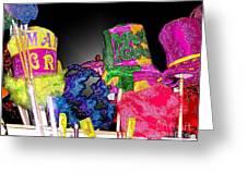 A Street Vendor's Mardi Gras In Plastic Wrap Greeting Card