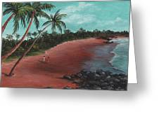 A Stroll On A Tropical Beach Greeting Card