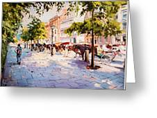 A Stroll On Stephens Green Greeting Card