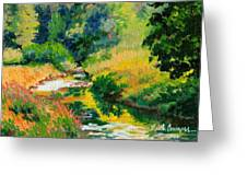 A Summer Brook Greeting Card
