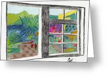 A Summer Garden Greeting Card by Bav Patel