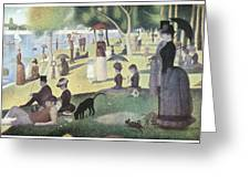A Sunday Afternoon On The Island Of La Grande Jatte Greeting Card by George-Pierre Seurat