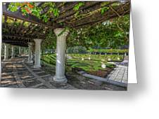 A Sunken Garden Greeting Card by Mario Legaspi