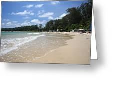 A Sunny Day On Nai Yang Beach Phuket Island Thailand Greeting Card