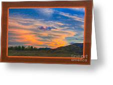 A Surprise Sunset Visit Landscape Painting Greeting Card