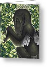 A Suspicious Deinonychus Antirrhopus Greeting Card