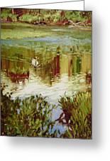 A Swan's Lake Greeting Card