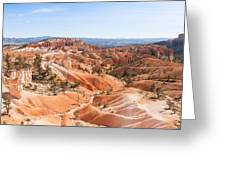 A Sweeping Vista At Bryce Canyon  Greeting Card