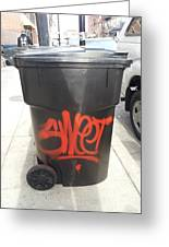A Sweet Garbage Can. Greeting Card