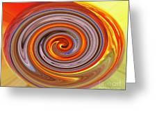 A Swirl Of Colors From The Sun And Earth Greeting Card