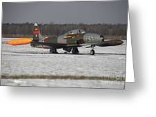 A T-33 Shooting Star Trainer Jet Greeting Card