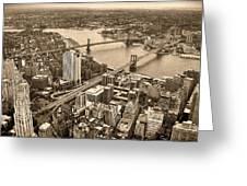 A Tale Of Two Bridges 2 Greeting Card by Joann Vitali