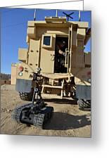 A Talon Mark 2 Bomb Disposal Robot Greeting Card