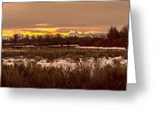 A Teton Dawn In Spring Greeting Card