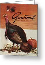 A Thanksgiving Turkey And Pumpkin Greeting Card