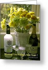 A Toast Of Cheers For The New Year Greeting Card