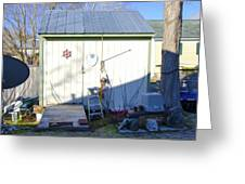 A Tool Shed In The Back Yard Greeting Card
