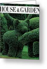 A Topiary Bear In Alice Braytons Green Animals Greeting Card
