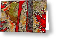 A Touch Of Autumn Abstract V Greeting Card