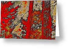 A Touch Of Autumn Abstract Vi Greeting Card