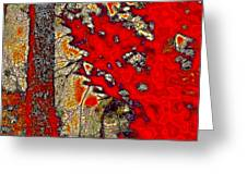 A Touch Of Autumn Abstract Vii Greeting Card