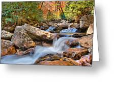 A Touch Of Autumn At Skinny Dip Falls Greeting Card