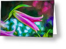A Touch Of Class 2 - Impasto Greeting Card